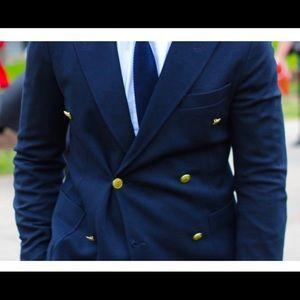 Zara double breasted blazer  Navy Blue
